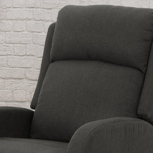 Alouette Rocking Recliner by Christopher Knight Home - dark grey + black