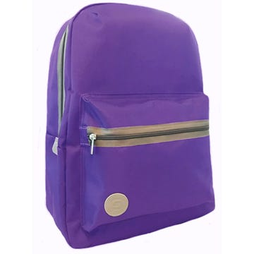 Purple Dual Compartment Backpack