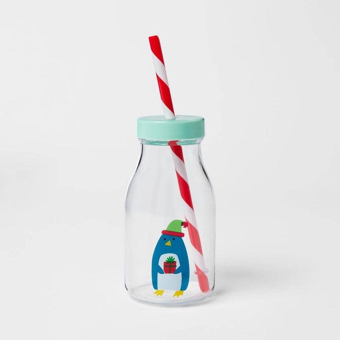 14oz Plastic Penguin Tritan Milk Bottle - Wondershop
