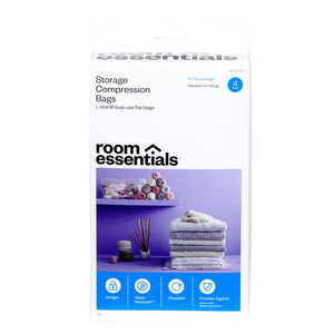 4 Compression Bags Combo Clear - Room Essentials