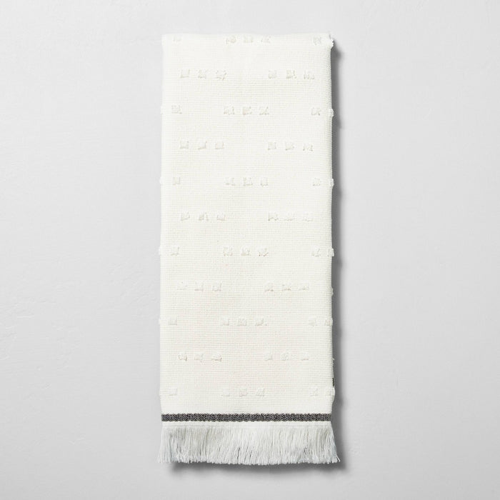 Fouta Texture Dots Hand Towel Sour Cream/Railroad Gray - Hearth & Hand with Magnolia