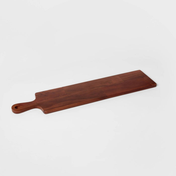 "28"" x 6"" Wooden Cheese Board - Threshold"