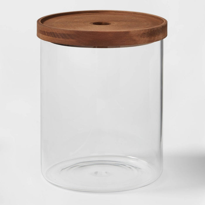 105oz Glass Storage Canister with Wood Lid - Threshold