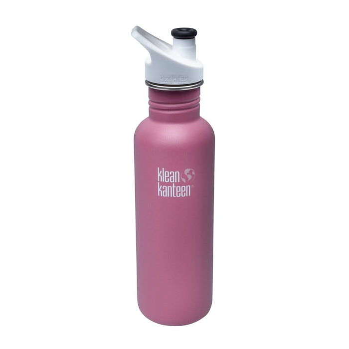 Klean Kanteen 27oz Classic Stainless Steel Water Bottle with Sport Cap - Pink Rose