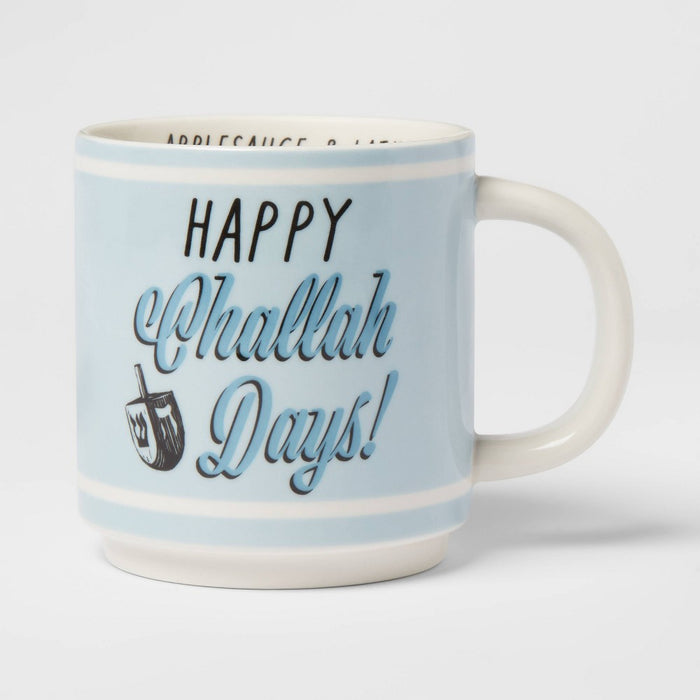 16oz Happy Challah Days Mug Blue - Threshold