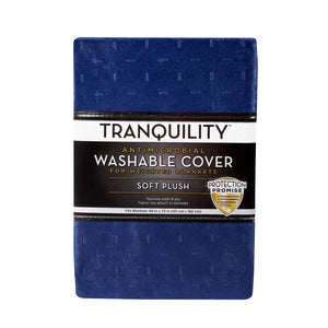 "48"" x 72"" Cover for Weighted Blanket Navy - Tranquility"
