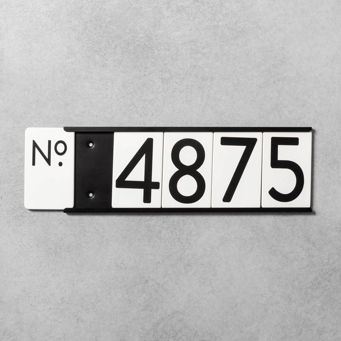 House Numbers Mounting Plate Black 5 Spaces - Hearth & Hand with Magnolia