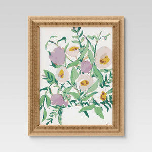 "16"" x 20"" Oh Floral I Framed Under Glass - Opalhouse"