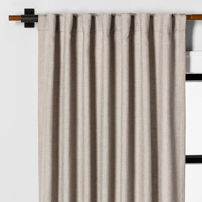"108"" Curtain Panel Solid Fresno Pebble - Hearth & Hand with Magnolia"