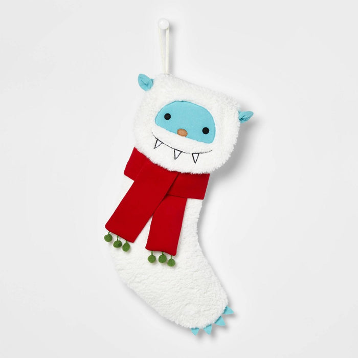 Yeti Fuzzy Character Christmas Stocking White - Wondershop
