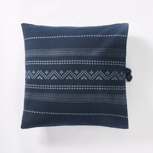 Woven Textured Square Throw Pillow Blue - Threshold designed w/ Studio McGee