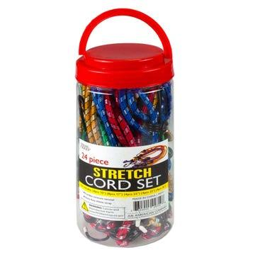 24 Pack Heavy Duty Stretch Cord Set Rope