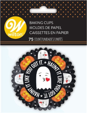 Wilton 75ct Paper Ghost and Pumpkin Print Baking Cups
