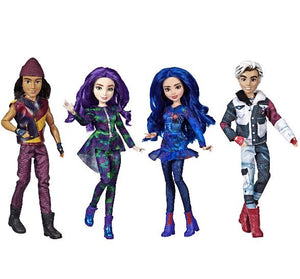 Disney Descendants Isle of the Lost Collection, 4 Pack of Dolls (please be advised that sets may be missing pieces or otherwise incomplete)