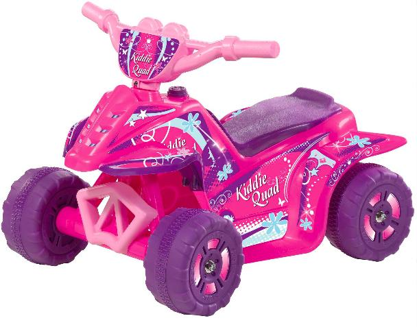 Kid Motorz 6V Kiddie Quad Battery-Powered Ride-On, Pink