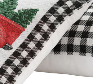 "Mainstays Holiday Home Wreath Plaid Decorative Throw Pillow Set, 17""x17"", 2 Pack"