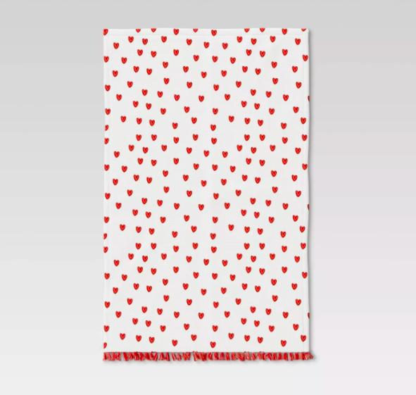 Cotton Scattered Hearts Terry Kitchen Towel - Opalhouse