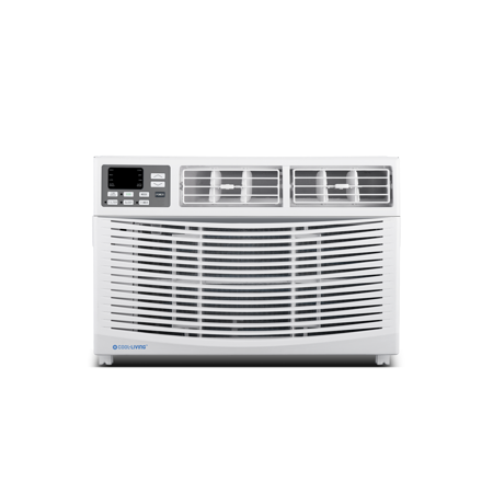 Cool-Living 12,000 BTU 115-Volt Window Air Conditioner with Digital Display and Remote, White