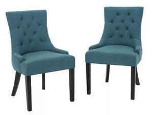 Set of 2 Hayden Tufted Dining Chairs Dark Teal - Christopher Knight Home