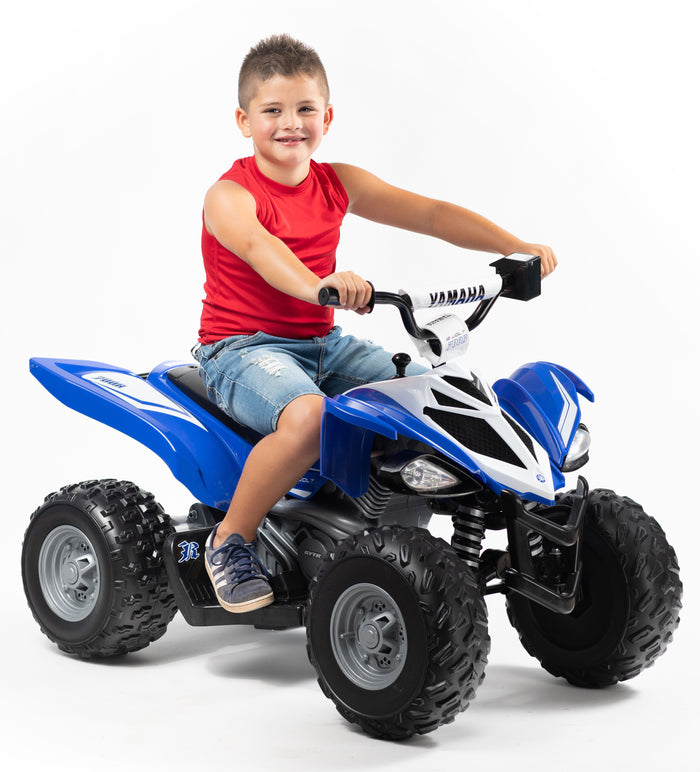 12 Volt Yamaha Raptor ATV Battery Powered Ride-on - Blue and White