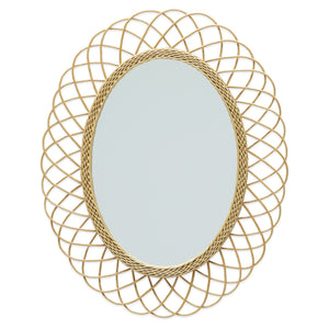 Rattan Oval Wall Mirror by Drew Barrymore Flower Home