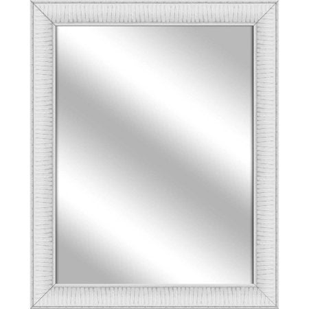 PTM Images Excitant Ready to Hang Framed Mirror, White