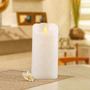"Better Homes & Gardens Flameless LED Motion Flame Pillar Candle, 4x8"", White"