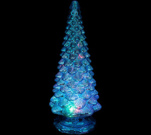 "Mercury Glass Kaleidoscope 20"" Light Show Tree"