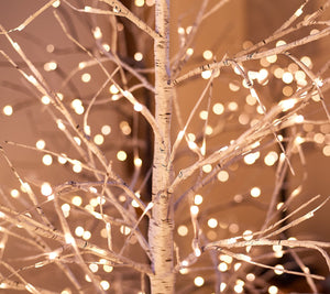 Indoor/Outdoor 4' Birch Tree w/ Lights & Remote