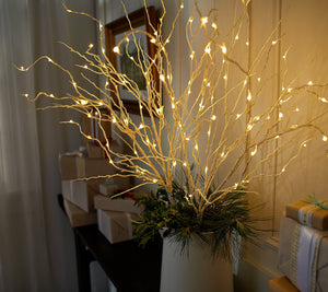 Bethlehem Lights S/2 Glitter Sprigs with Color