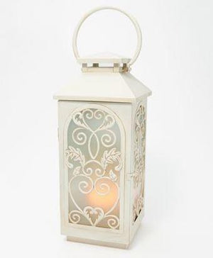 "Indoor/Outdoor 22"" Lantern w/ Flickering Flame"