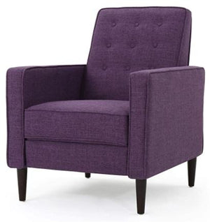 Mid-Century Push Back Recliner Chair - Muted Purple
