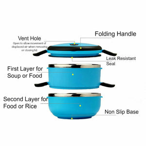 Stackable 2-Tier Lunch Box