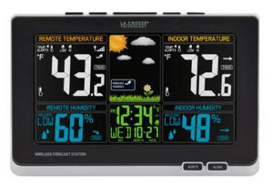 La Crosse 308-1414MB-INT Color Weather Station with In Out Temperature, Humidity and Mold Indicator