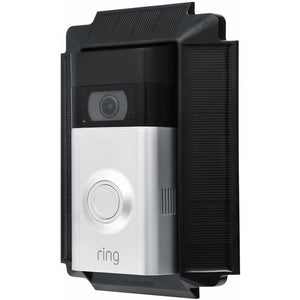 Wasserstein - Solar Charger Mount for Ring Video Doorbell 2 - Black