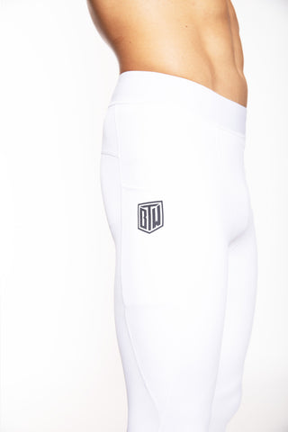 Men's Comp Tights (White)