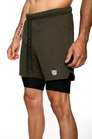 Men's Game Short (Olive/Black)