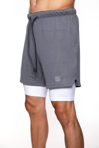Men's Game Short (Grey/White)