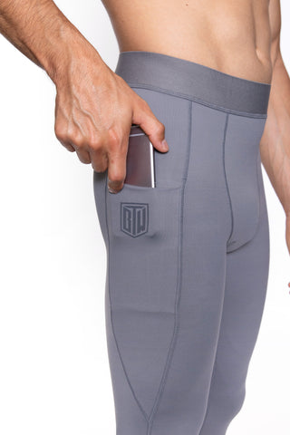 Men's Comp Tights (Grey)