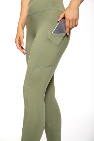 Women's Rise Tights (Olive)