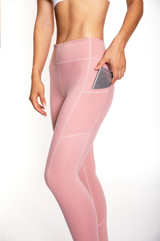 Women's Rise Tights (Mauve)