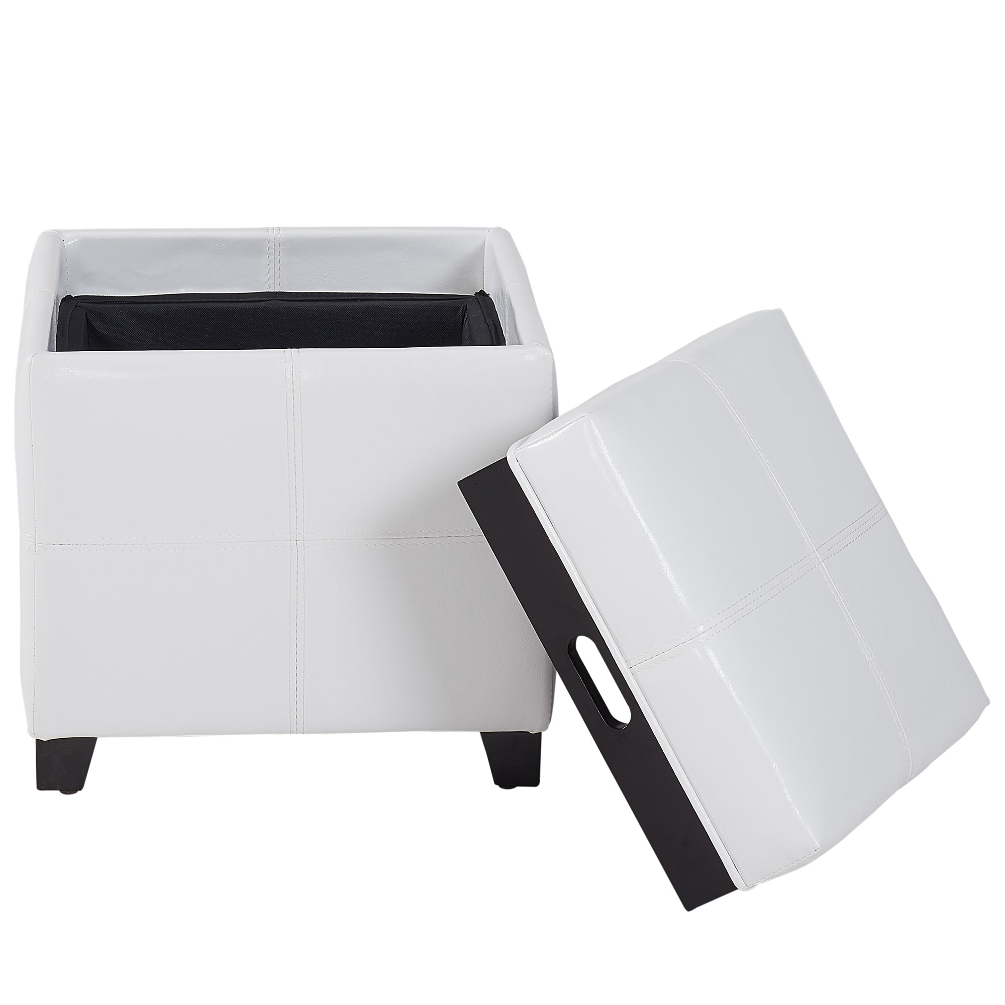 Miraculous Anton Ii Storage Ottoman With Serving Tray In White Gmtry Best Dining Table And Chair Ideas Images Gmtryco