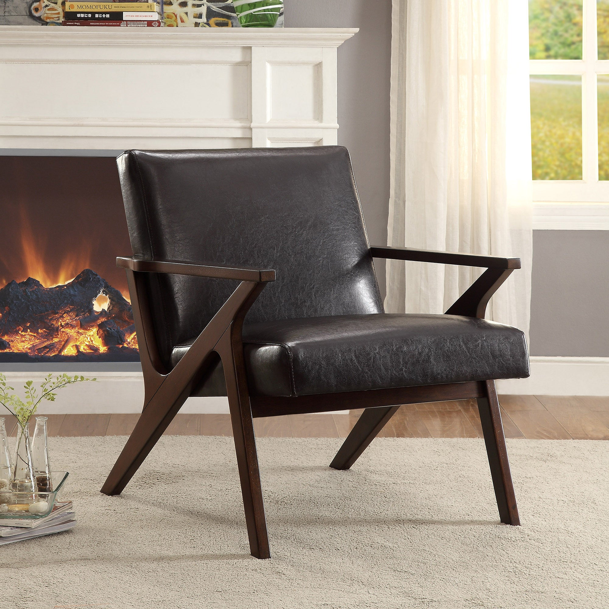 Beso Accent Chair Brown