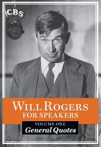 "Will Rogers Quotable Pocket Book ""General Quotes"""