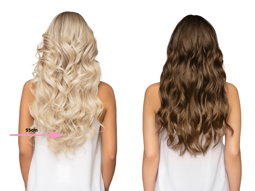 Kit 3 bandes d'extensions à clips - 120gm - Lisse<br>Blond Cendré