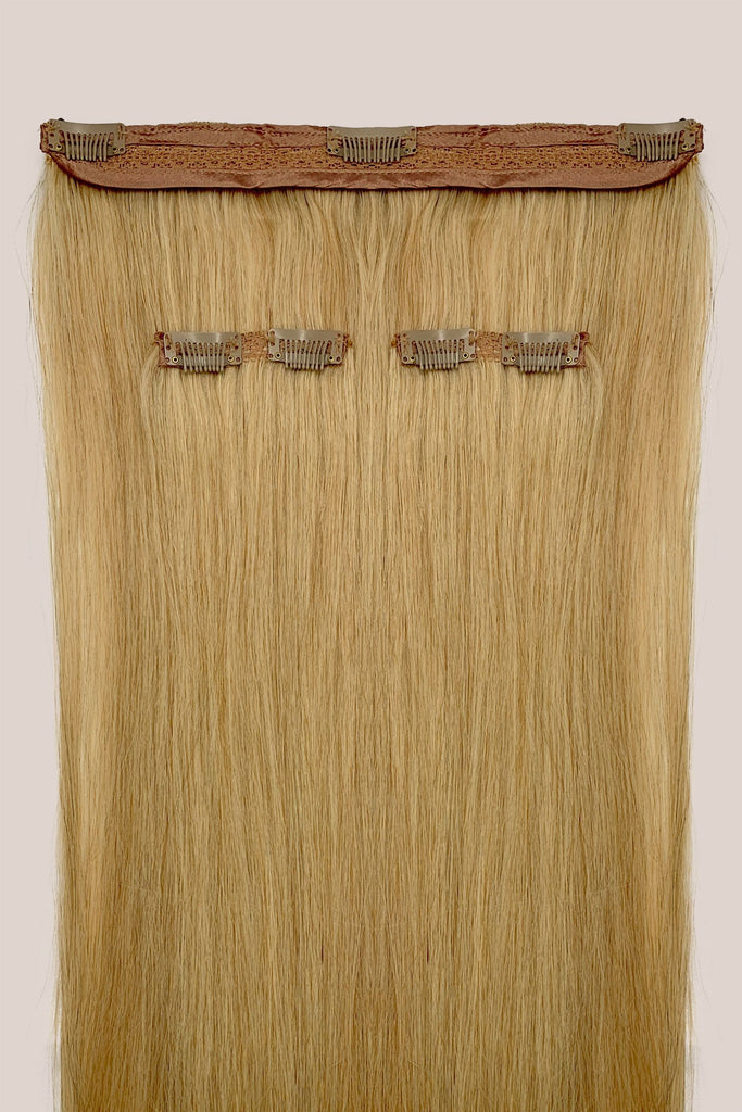 Kit 5 bandes d'extensions à clips - 220gm - Ondulé<br>Blond Caramel