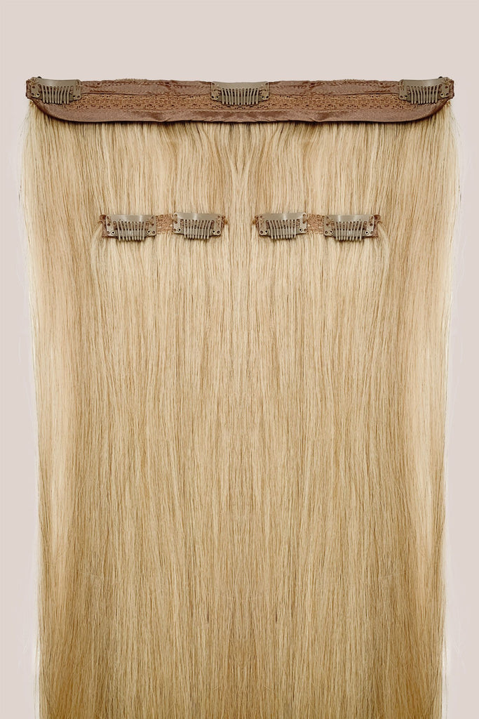 Kit 5 bandes d'extensions à clips <br>Blond Cendré