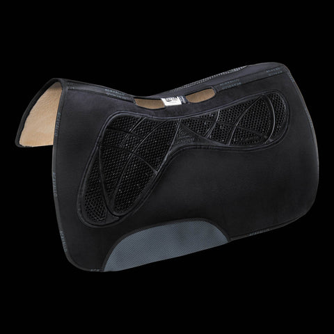 Acavallo Western Anatomic AC-Grip Pad Synthetic Wool Lined