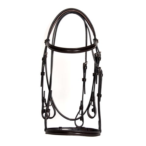 Show Hunter Double Bridle with Padded Crown