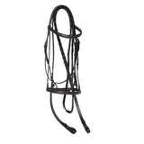 Show Hunter Snaffle Bridle with Padded Crown